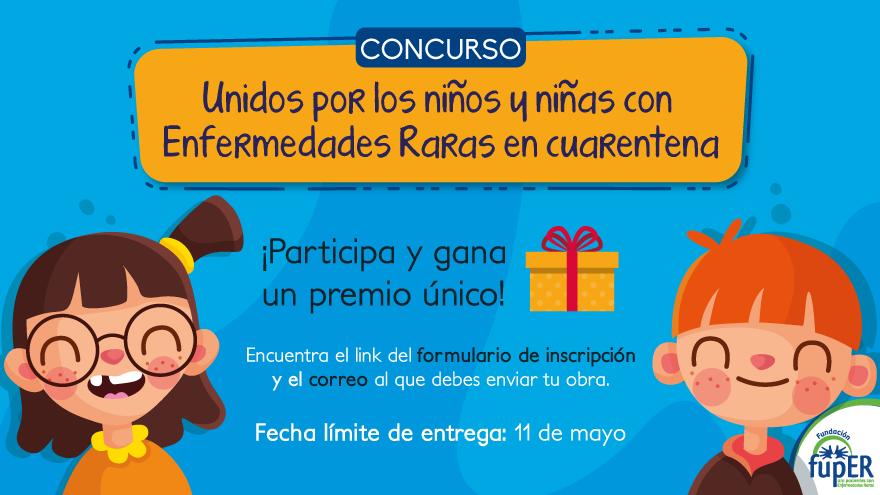Concurso por los niños y niñas con Enfermedades Raras en cuarentena